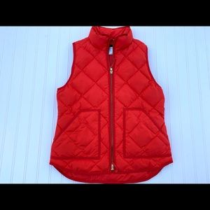 J. CREW Excursion Puffer Vest Down Quilted Small